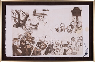 CHARLES BRAGG - PROCESSION ETCHING SIGNED (PROOF FIRST STATE) CIRCA 1965