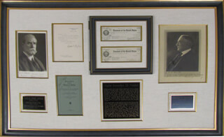 PRESIDENT WARREN G. HARDING - COLLECTION WITH CHIEF JUSTICE CHARLES E HUGHES