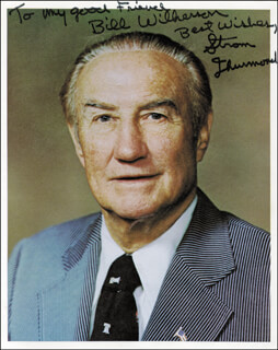 STROM THURMOND - AUTOGRAPHED INSCRIBED PHOTOGRAPH