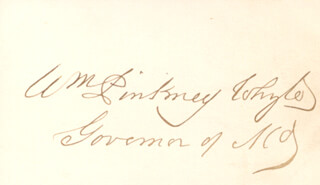 WILLIAM PINKNEY WHYTE - AUTOGRAPH