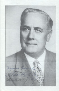 Autographs: ALEXANDER WILEY - PHOTOGRAPH SIGNED