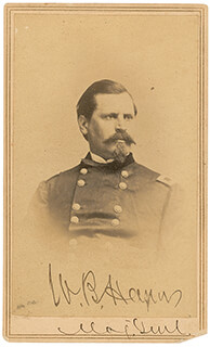 MAJOR GENERAL WILLIAM B. HAZEN - AUTOGRAPHED SIGNED PHOTOGRAPH