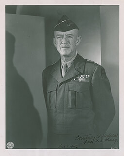 GENERAL COURTNEY H. HODGES - AUTOGRAPHED SIGNED PHOTOGRAPH