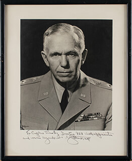 GENERAL GEORGE C. MARSHALL - AUTOGRAPHED INSCRIBED PHOTOGRAPH