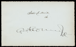 GEORGE F. EDMUNDS - AUTOGRAPH CO-SIGNED BY: JUSTIN MORRILL