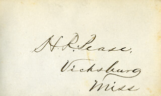HENRY ROBERTS PEASE - AUTOGRAPH