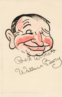 WALLACE BEERY - CARICATURE SIGNED