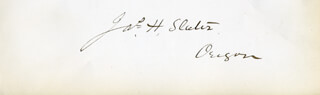 JAMES HARVEY SLATER - AUTOGRAPH