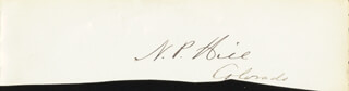 NATHANIEL PETER HILL - AUTOGRAPH