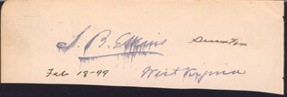 Autographs: STEPHEN B. ELKINS - CLIPPED SIGNATURE 02/18/1899