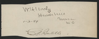 ASSOCIATE JUSTICE WILLIAM H. MOODY - AUTOGRAPH SENTIMENT SIGNED 01/30/1899 CO-SIGNED BY: WALTER EVANS