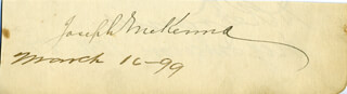 ASSOCIATE JUSTICE JOSEPH MCKENNA - AUTOGRAPH 03/16/1899 CO-SIGNED BY: DAVID R. FRANCIS