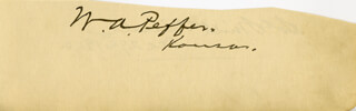 SOL SMITH RUSSELL - AUTOGRAPH 12/29/1900 CO-SIGNED BY: WILLIAM A. PEFFER