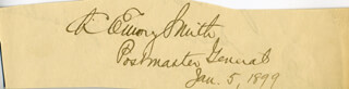 Autographs: CHARLES EMORY SMITH - SIGNATURE(S) 01/05/1899