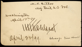Autographs: MAJOR GENERAL MATTHEW C. BUTLER - SIGNATURE(S) 04/19/1899 CO-SIGNED BY: NATHAN OAKES MURPHY, HERMAN H. KOHLSAAT