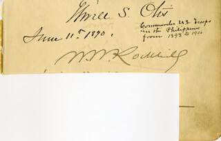 Autographs: MAJOR GENERAL ELWELL S. OTIS - SIGNATURE(S) 06/11/1890 CO-SIGNED BY: MORTON FREWEN, LADY MARY MINTO