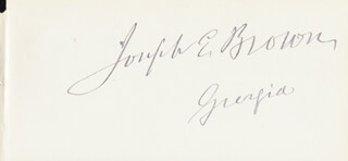 Autographs: JOSEPH E. BROWN - SIGNATURE(S)