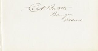 CHARLES A. BOUTELLE - AUTOGRAPH