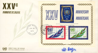 PRIME MINISTER MENACHEM BEGIN (ISRAEL) - FIRST DAY COVER SIGNED