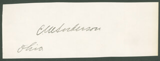 CHARLES MARLEY ANDERSON - AUTOGRAPH  - HFSID 35097