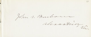 Autographs: JOHN S. BARBOUR JR. - SIGNATURE(S)