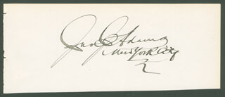 Autographs: JOHN J. ADAMS - SIGNATURE(S)