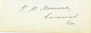 THOMAS MANSON NORWOOD - AUTOGRAPH