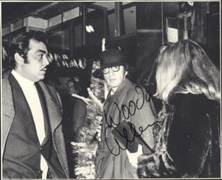 WOODY ALLEN - MAGAZINE PHOTOGRAPH SIGNED  - HFSID 35193