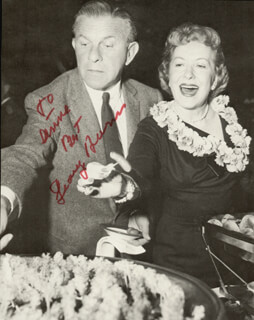 GEORGE BURNS - INSCRIBED MAGAZINE PHOTO SIGNED