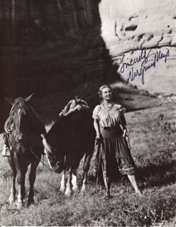 VIRGINIA MAYO - MAGAZINE PHOTOGRAPH SIGNED