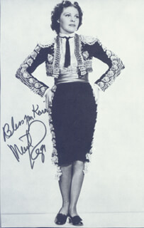 MARTHA RAYE - INSCRIBED MAGAZINE PHOTO SIGNED