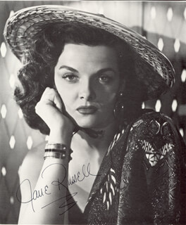 JANE RUSSELL - MAGAZINE PHOTOGRAPH SIGNED