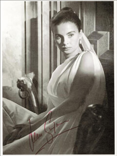 JEAN SIMMONS - MAGAZINE PHOTOGRAPH SIGNED