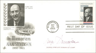 GEORGE SAMERJAN - FIRST DAY COVER SIGNED