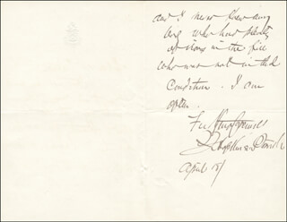 FRANCIS HOPKINSON SMITH - AUTOGRAPH LETTER SIGNED 04/18