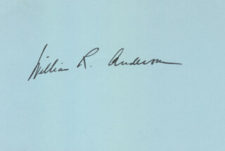 WILLIAM R. ANDERSON - AUTOGRAPH