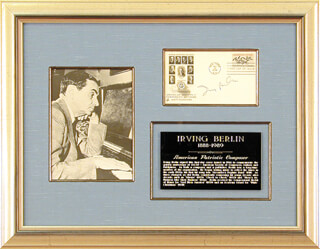 Autographs: IRVING BERLIN - FIRST DAY COVER SIGNED