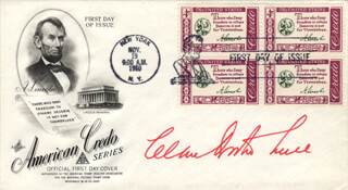 CLARE BOOTHE LUCE - FIRST DAY COVER SIGNED
