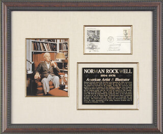 NORMAN ROCKWELL - FIRST DAY COVER WITH AUTOGRAPH SENTIMENT SIGNED