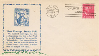 Autographs: JAMES A. FARLEY - COMMEMORATIVE ENVELOPE SIGNED