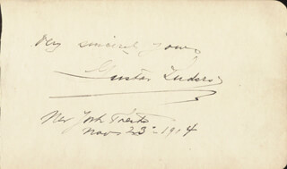 GUSTAV LUDERS - AUTOGRAPH SENTIMENT SIGNED CIRCA 1904