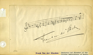 FRANK VAN DER STUCKEN - AUTOGRAPH MUSICAL QUOTATION SIGNED CO-SIGNED BY: JOHN B. SCHOEFFEL