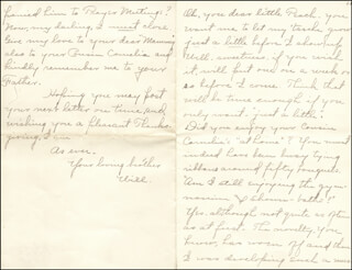 WILLIAM HIRAM RADCLIFFE - AUTOGRAPH LETTER SIGNED 11/21/1896