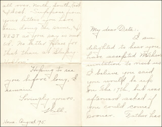 WILLIAM HIRAM RADCLIFFE - AUTOGRAPH LETTER SIGNED 08/01/1895
