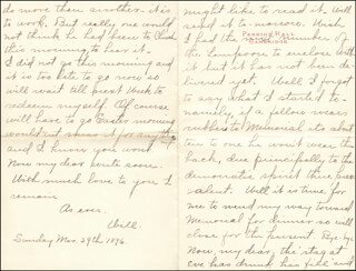 WILLIAM HIRAM RADCLIFFE - AUTOGRAPH LETTER SIGNED 03/29/1896