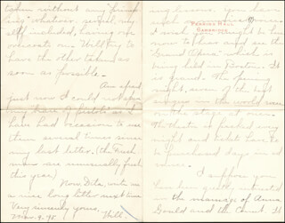 WILLIAM HIRAM RADCLIFFE - AUTOGRAPH LETTER SIGNED 03/09/1895