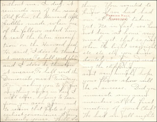 WILLIAM HIRAM RADCLIFFE - AUTOGRAPH LETTER SIGNED 10/31/1894