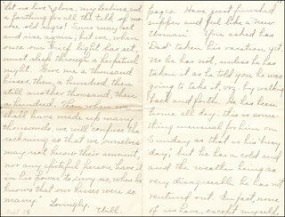 WILLIAM HIRAM RADCLIFFE - AUTOGRAPH LETTER SIGNED 9/1896