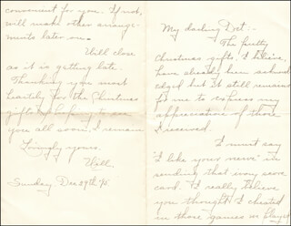 WILLIAM HIRAM RADCLIFFE - AUTOGRAPH LETTER SIGNED 12/29/1895