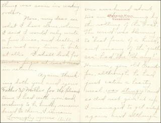 WILLIAM HIRAM RADCLIFFE - AUTOGRAPH LETTER SIGNED 01/05/1896